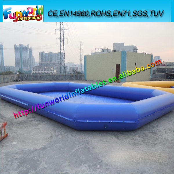 Square above ground pool inflatable water pool for kids for Inflatable above ground pools