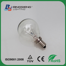 40w 240v E14/SES 300 degree Clear Lighting G45 Round Oven Light Bulb