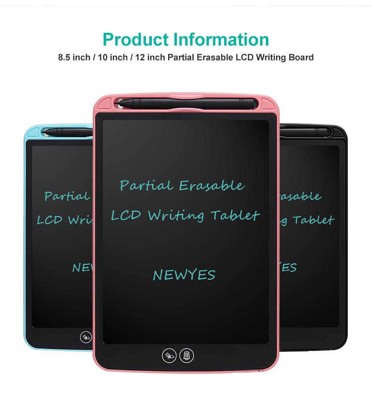 Newyes 送料無料 10 インチキッズ教育 Tableta E インク Lcd グラフィック描画タブレット消去部分的に
