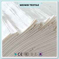 wholesale factory price poly cotton textile fabric cvc mixed greige fabric