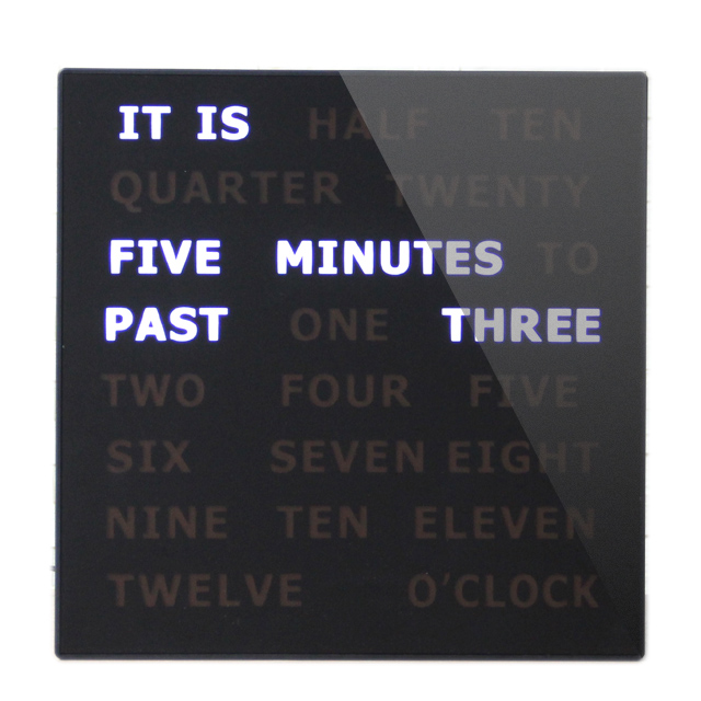 New Style Decorative White Sleek 5 Minutes Text Display Wall Clock LED Word Clock