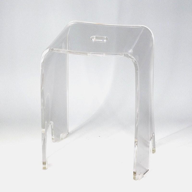 사각 모양 간단한 디자인 흰색의 작은 욕실 플라스틱 의자-스툴 ...