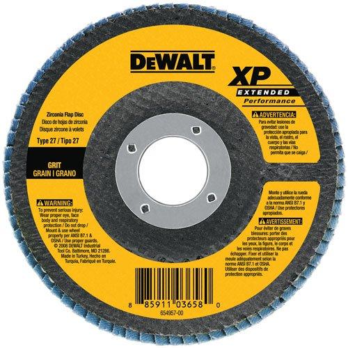 DEWALT DW8213H 4-1/2-Inch by 5/8-Inch-11 Z120 T27 WB Flap Disc
