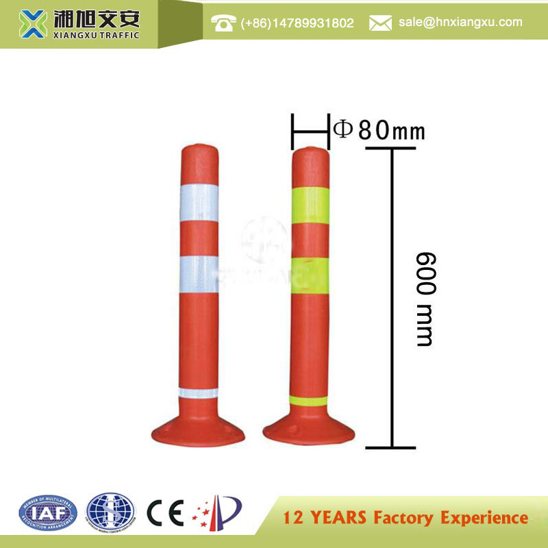 Outdoor road high quality bright color traffic warning post