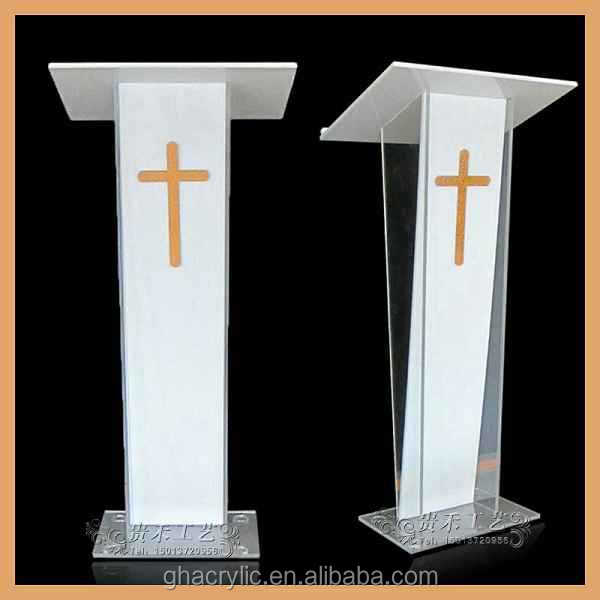 Gh-s009 China Factory Outlet Church Pulpit Glass Pulpit Church ...