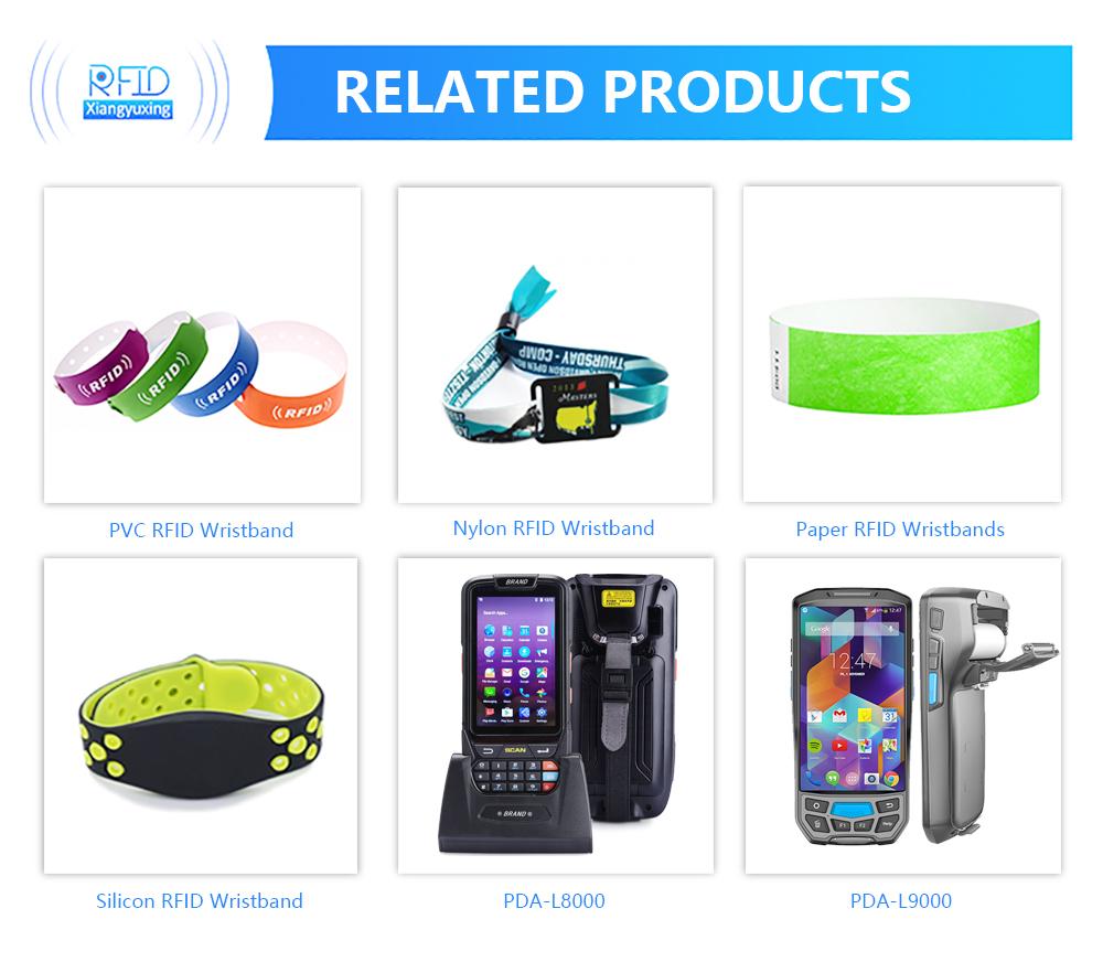 Ajustable pasiva RFID pulsera de silicona pulsera etiqueta NFC impermeable inteligente RFID banda