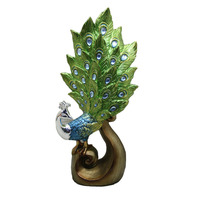 Wholesale polyresin home decor animal crafts peacock statue