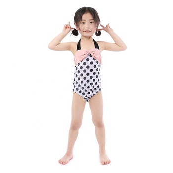 wholesale boutique dot design sweet summer kids baby clothes swimsuit one piece