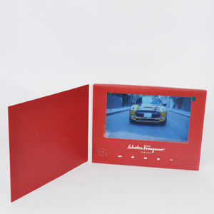 7 inch advertising video cards,video book,LCD screen Video Greeting Card Brochure for business gifts