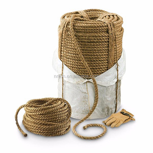 Real Manila Rope Abaca Packing Strands of High Breaking Force 3/4'' 1/2''