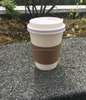 Disposable Hot Coffee Paper Cups with Lids and Cup Sleeves