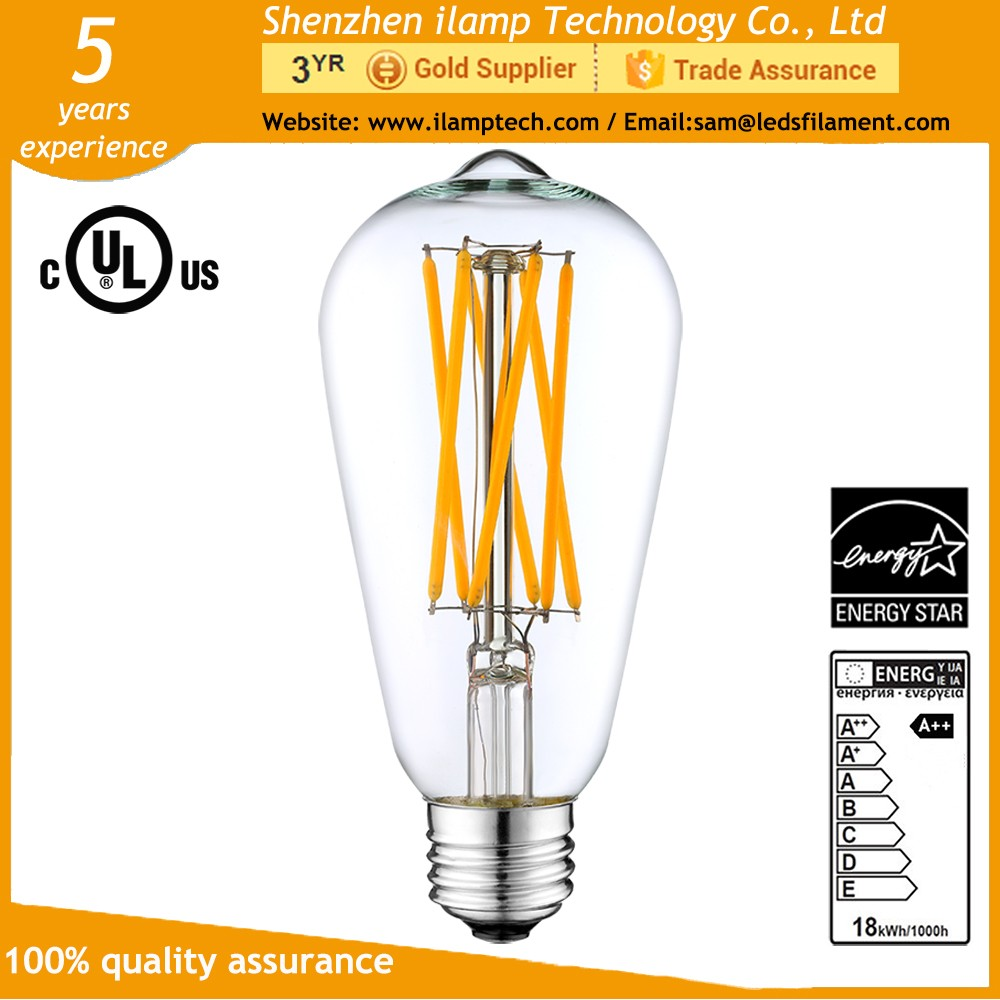 We pay extra fee for Outline of Glass bulb and Glass Mount with 100% Manual Check Manufacturing Process (holding at least 300000 Switching Cycles and last ...  sc 1 st  Alibaba & Ilamptech St64 E27 Led Pendant Lighting Dimmable Led Bulb Intertek ...