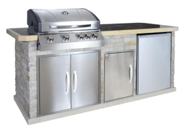 Outdoorküche Mit Kühlschrank Temperatur : Outdoor bbq küche mit kühlschrank waschbecken bbq mit aga ce buy