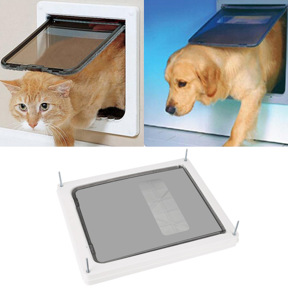 Homdox Large Telescoping Frame Dual Entry Extra Pet Door OS004622