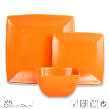Pink ceramic square dinnerware set 18pc square shaped dinnerware set orange dinnerware square  sc 1 st  Changsha Happy Go Products Developing Co. Ltd. - Alibaba & Pink ceramic square dinnerware set 18pc square shaped dinnerware set ...