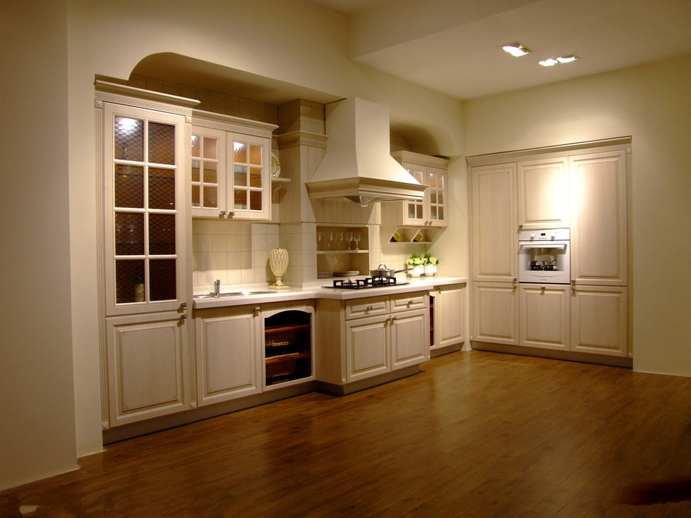American Style Customized Solid Wood Door Kitchen Cabinet