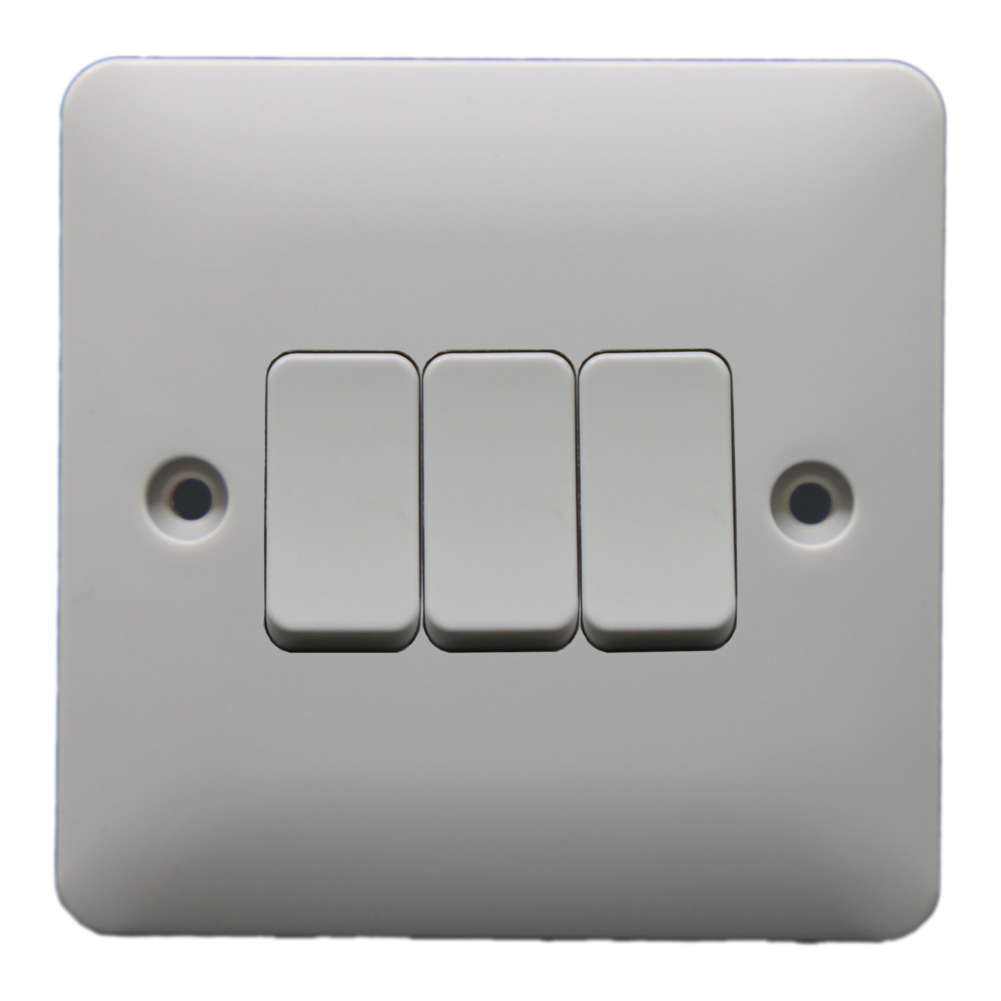 Zn306 10a Uk 3 Gang 2 Way Electric Wall Light Switches