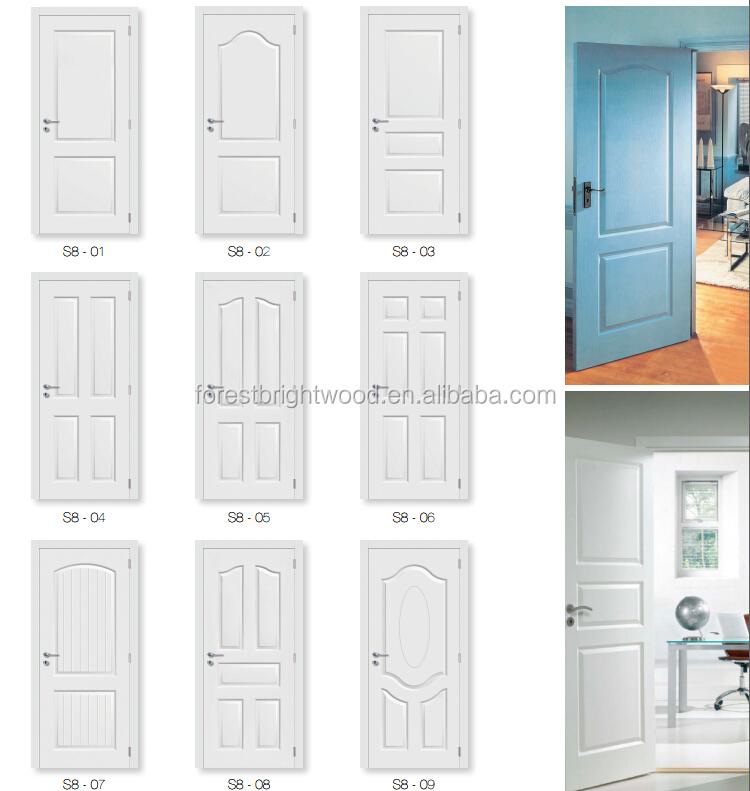 Modern Bedroom Wooden Door Designs modern white 4 panel inter wood doors design for bedroom - buy