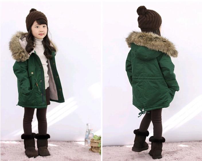 Children s Clothing New 2014 Winter Coat Lapel Jacket Plus Thick Velvet