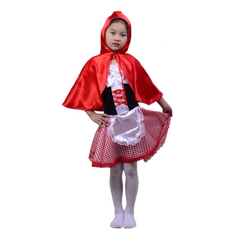 Wholesale Halloween Costumes cosplay dress cute little red riding hood For kids Girls