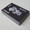 Factory selling custom printing carbon fiber poker, carbon fiber playing cards
