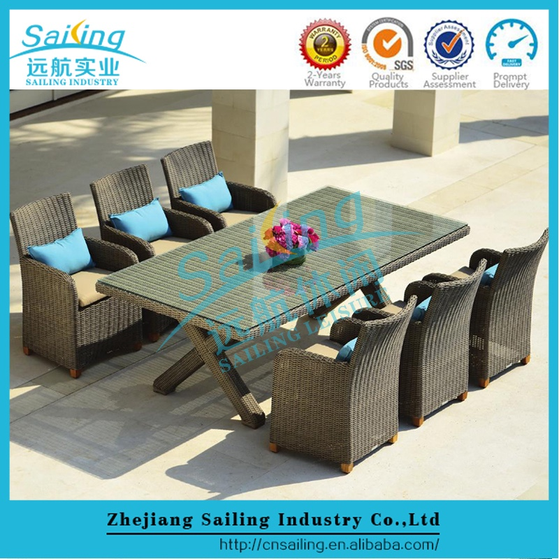 All Weather Outdoor Pavilion Jordans Rattan Dining Set
