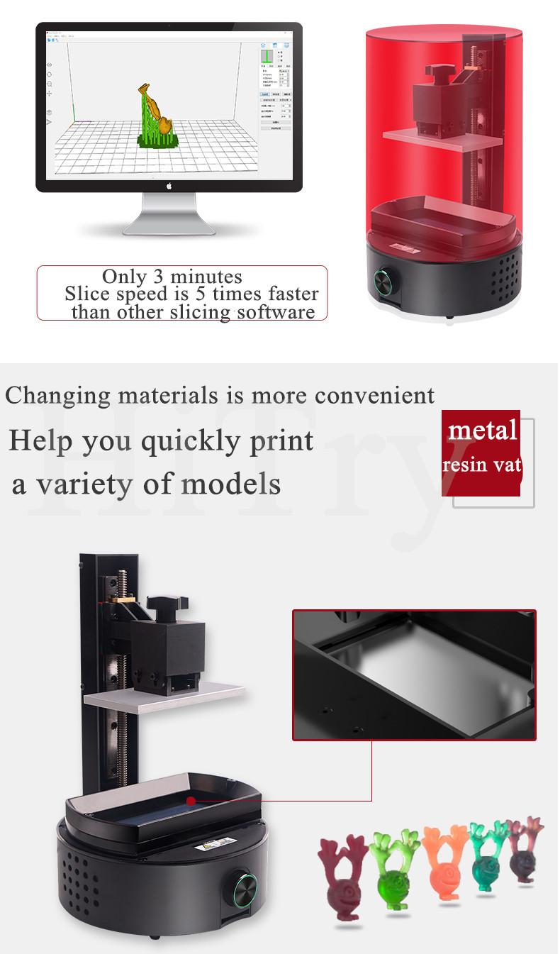 Sparkmaker Nieuwe Product Intelligente Betaalbare 3d Drucker Hars Lcd Sla 3d Printer Vloeibare Fotopolymeer Hars 3d Printing Machine