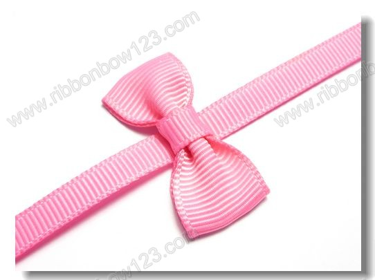 Flat bow knot striped grosgrain ribbon