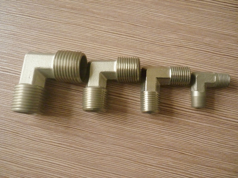 Forged female brass elbow l type tube connector air