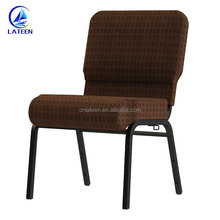 Factory wholesale aluminum metal custom color stackable commercial church chair