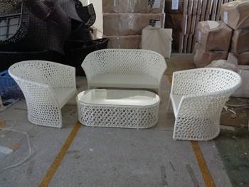 Aluminum Frame Rattan Wicker Sofa Furniture, Plastic Garden Wicker Sofa  Set, Hotel Design Sofa