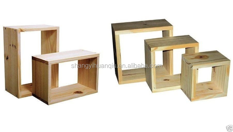 solid pine wood wooden Wall Shelves with hook