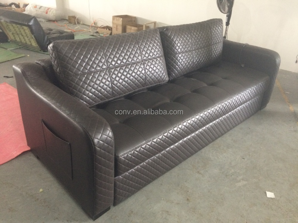 Electric Function Sofa Sleeper Pull Out Couch Bed Deck