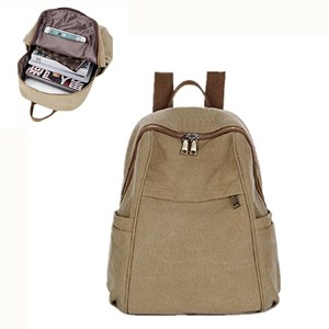 Vintage Rucksack Casual Daypack Hiking Travel Shoulder Bag Multipurpose Canvas Backpacks