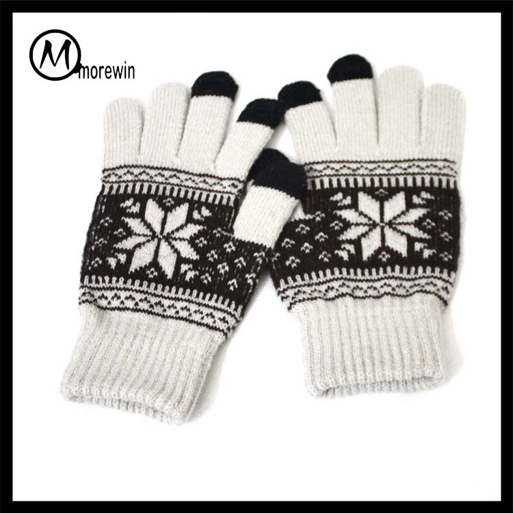 2017 Morewin high quality Christmas Xmas Winter Touch Screen Gloves Mobile Warm iPhone Winter Magic Gloves