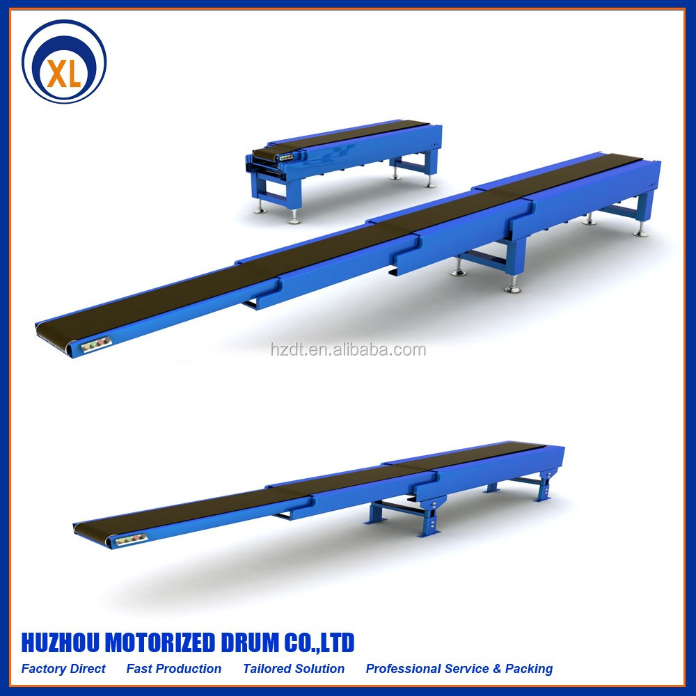 Extensible belt conveyor modular belt conveyor