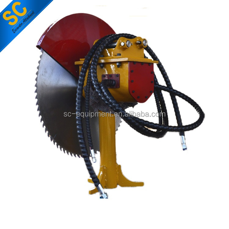 quarry block cutting machine stone rock saw blade concrete cutter excavator