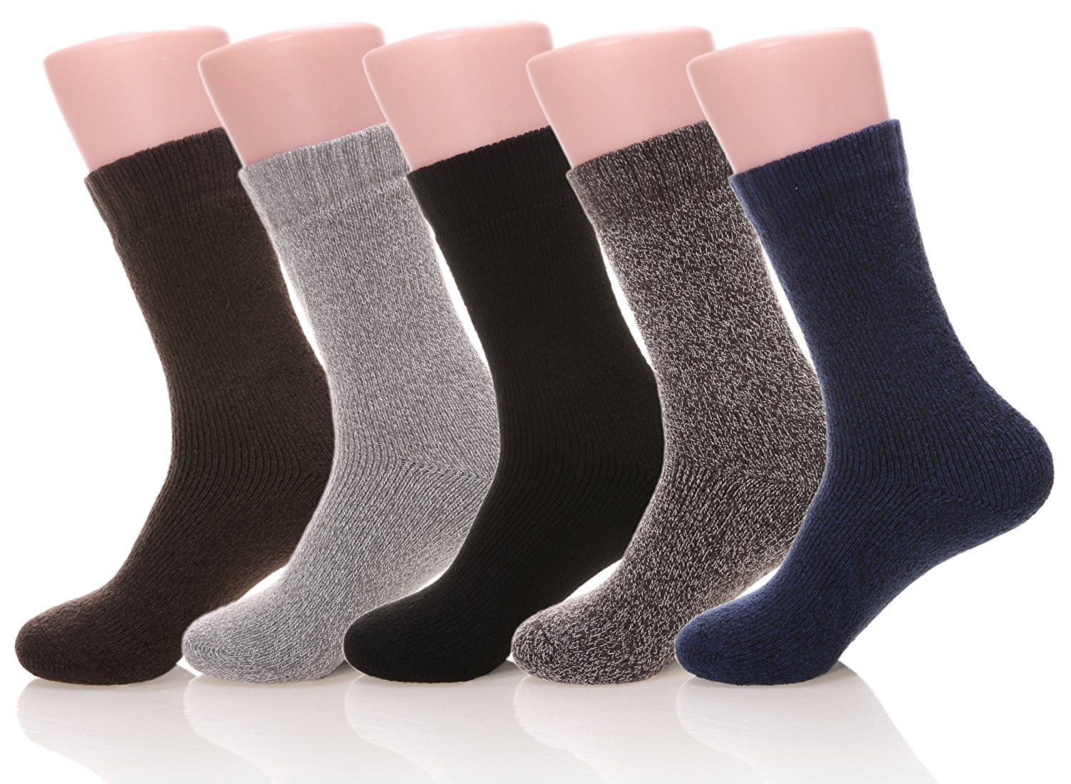DoSmart Men's Super Thick Cotton Winter Warm Socks - 5 Pairs Hight Quality Socks