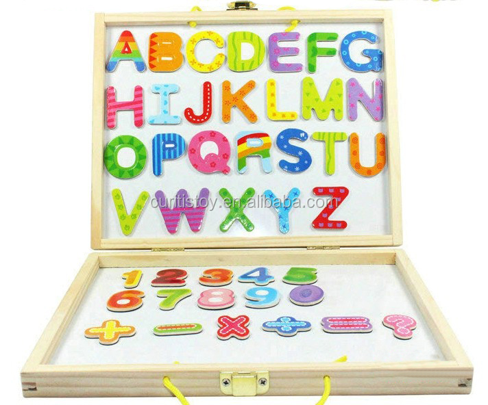 Children Games 26 Words Capital Letters Wooden Spell Box Wood Toy Magnetic  White Board Easel Magnetic Board - Buy Easel,Magnetic White Board,Magnetic