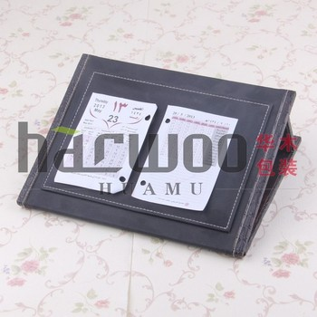 Classic Islamic folding PU desk calendar