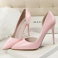 cz3029g Best selling pointed toe ladies shoes heel high heels stock with low price