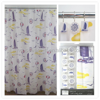 Boat Design Shower Curtains - Buy Shower Curtains,Folding Shower ...