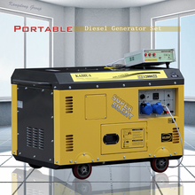 10kva Soundproof Portable Diesel Generator for sale