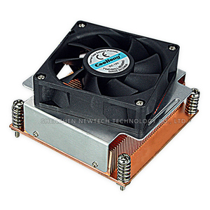 Supplier Skiving LGA 1355/1356 Cyber Server copper heat sink with 7020 fan