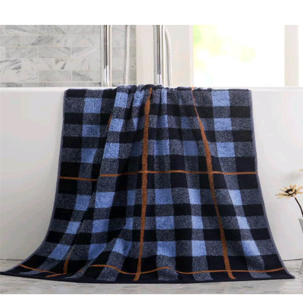 classic thin tartan yarn dyed cotton bath towel