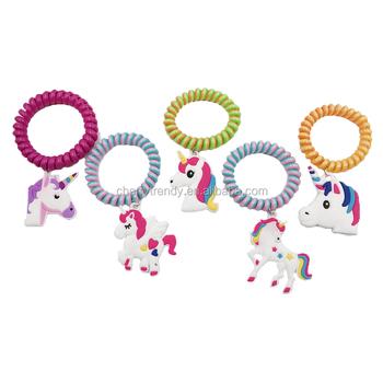 Unicorn Plastic Bracelet For Kids Party Wire Wristband