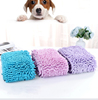 Manufacturer wholesale custom logo soft grey pink blue green pet grooming towel for dog
