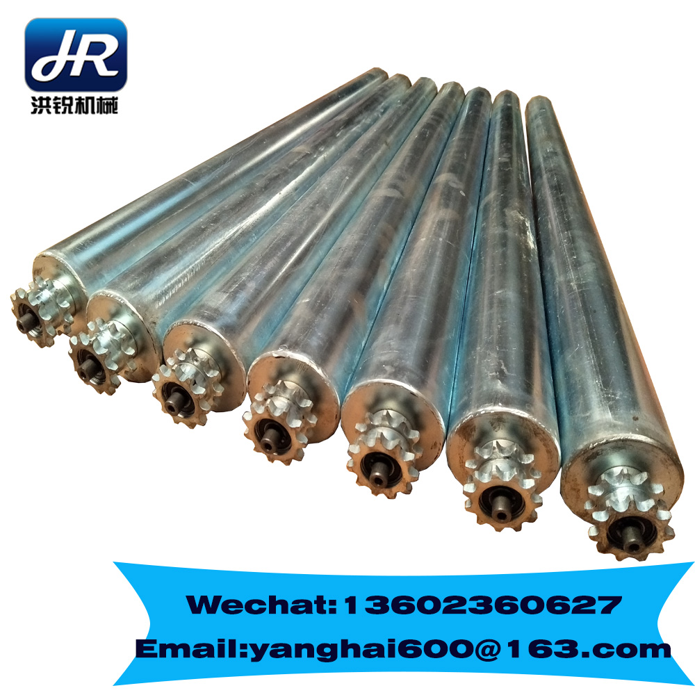 Chinese cheap and customized sprocket roller gravity roller Galvanized roller