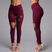 2016 Ladies Cutting Ripped Sexy Trousers For Women Bulk Buy From China