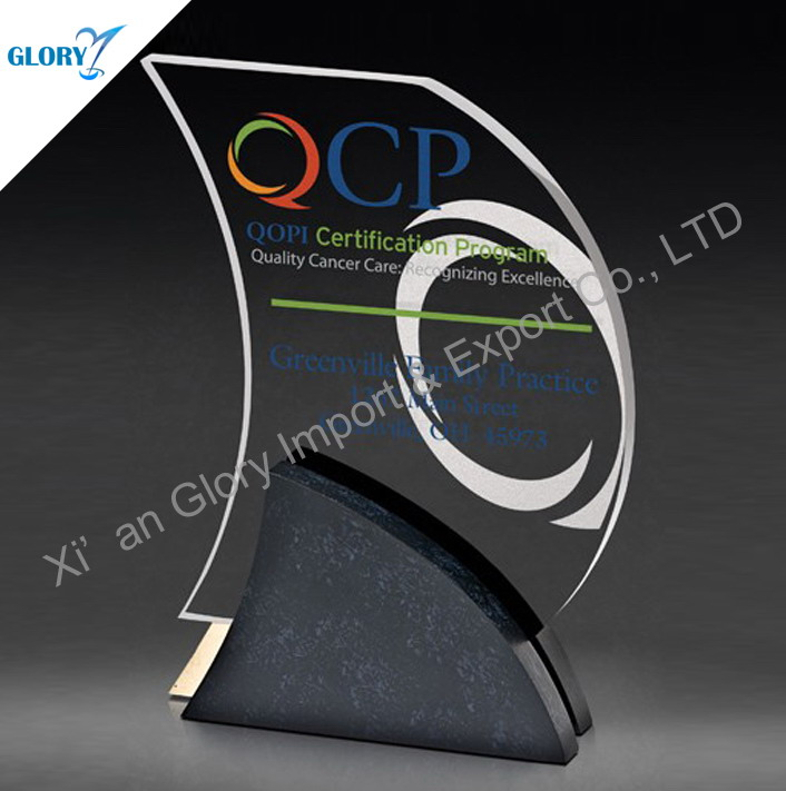 Best Sell China Manufacturer Crystal Plaque Office Supply